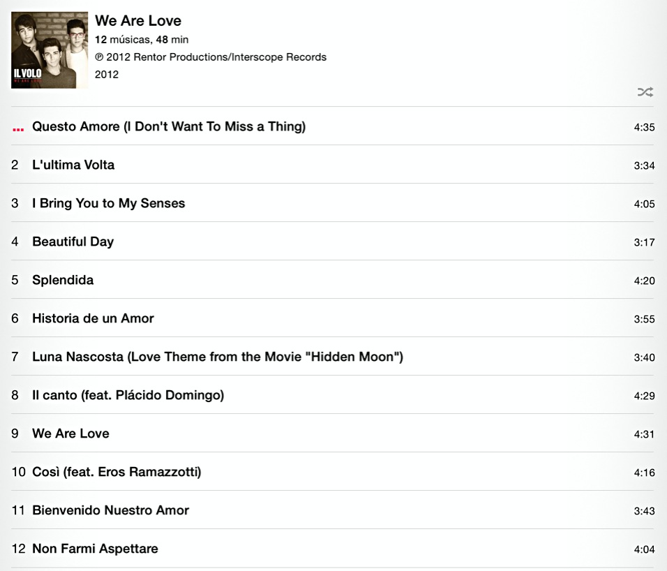 tracklist We Are Love