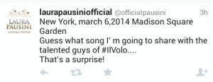 Laura Pausini - Tweet about Il Volo