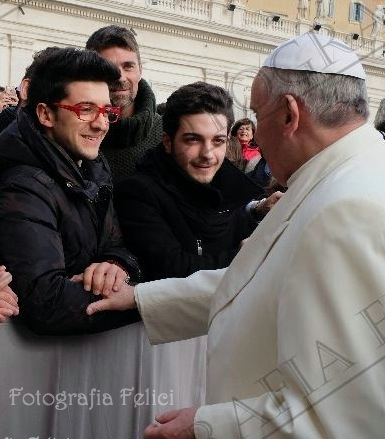 Il Volo and Papa Francesco - daily Feb 12, 2014
