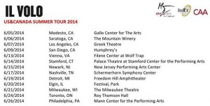 Tour dates Jun 2014