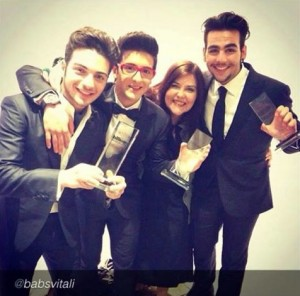 Il Volo and Barbara Vitali