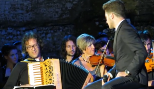 Daniele Falasca and Gianluca Ginoble in concert in Taormina