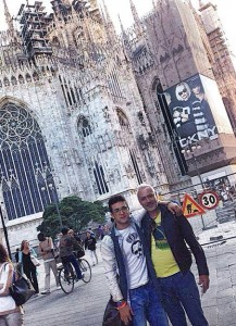 Piero and Mario in Milan