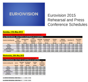 Eurovision 2015 Rehearsal and Press Conference Schedules