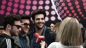 Il Volo arrives in Vienna - interview