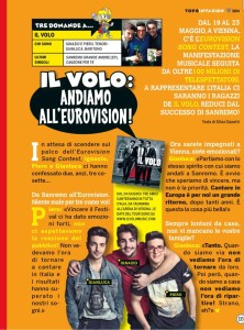 Il Volo on Mickey Mouse magazine