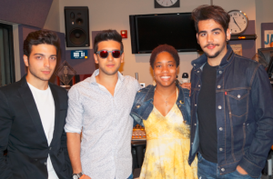Il Volo and Cecelia Sharpe at WRCJ studio