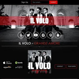 Il Volo site - new layout