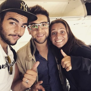 Piero and Ignazio with Roberta Vinci